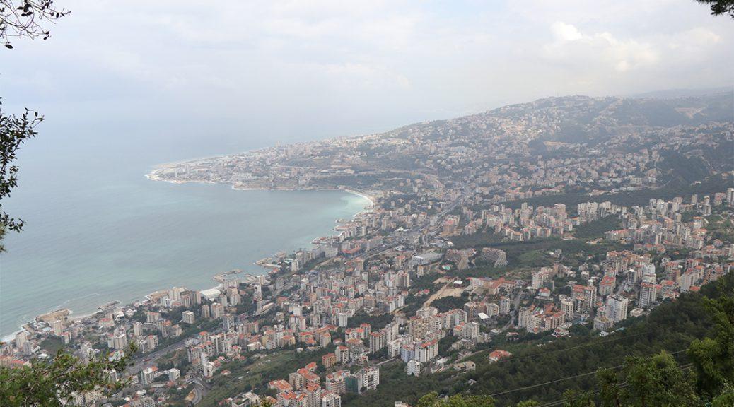 An Aerial view from Harrissa, Lebanon