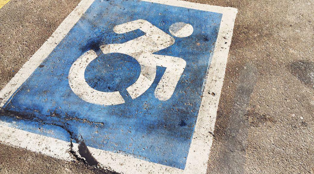 A handicap parking spot
