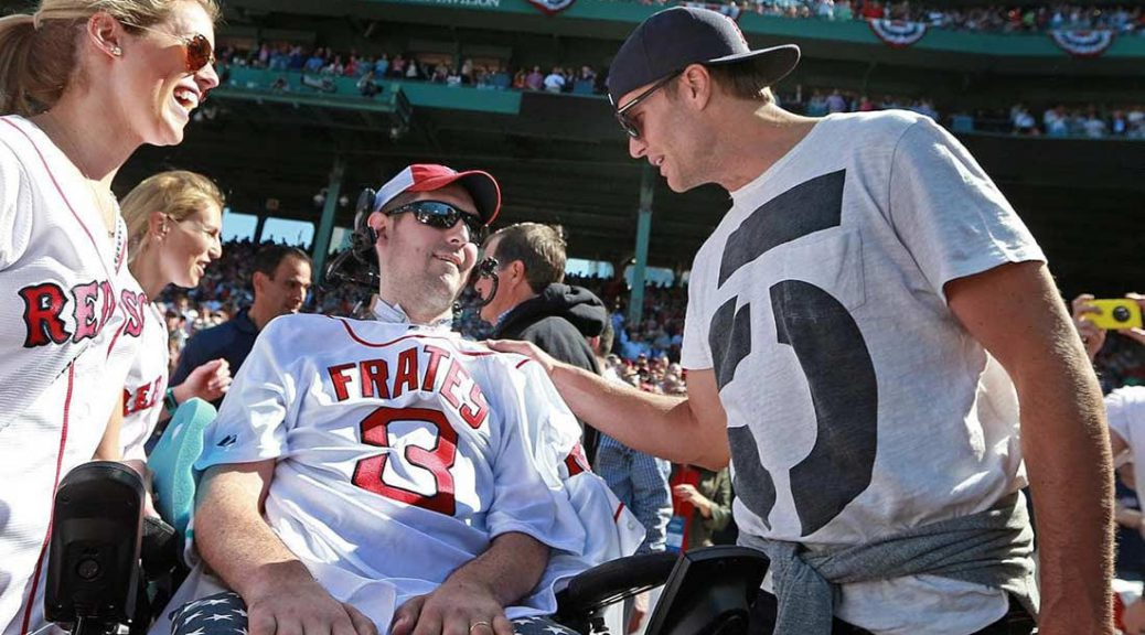 Pete Frates raising awareness for ALS at Fenway Park.