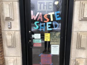 The entrance to The WasteShed.