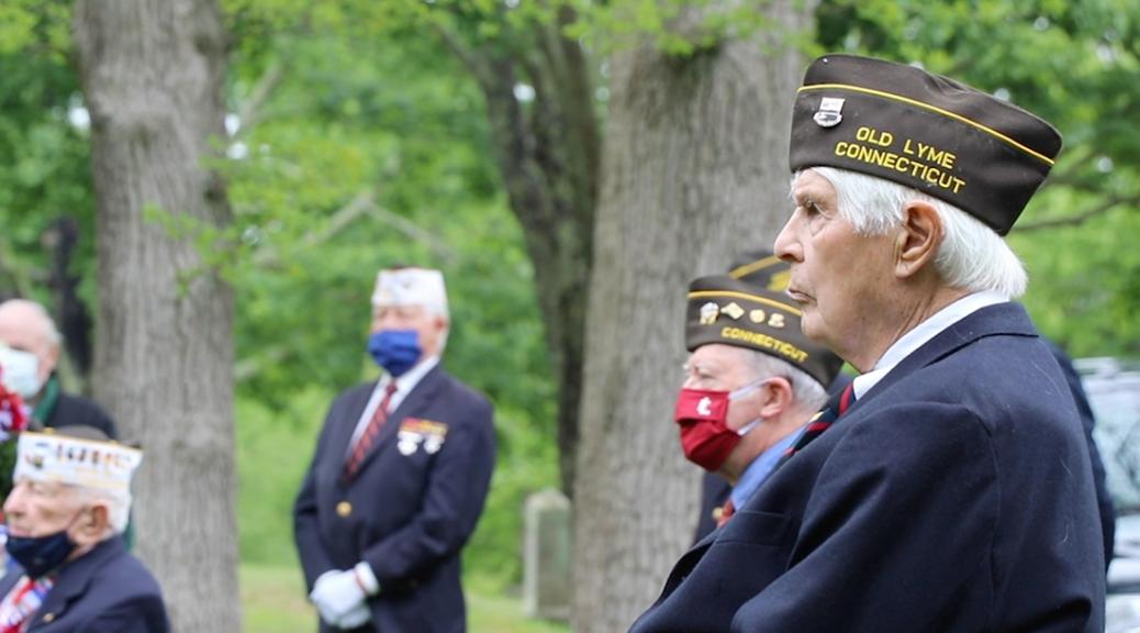 Veterans at Memorial Day celeration