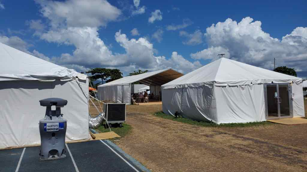 Earthquake shelters in Puerto Rico