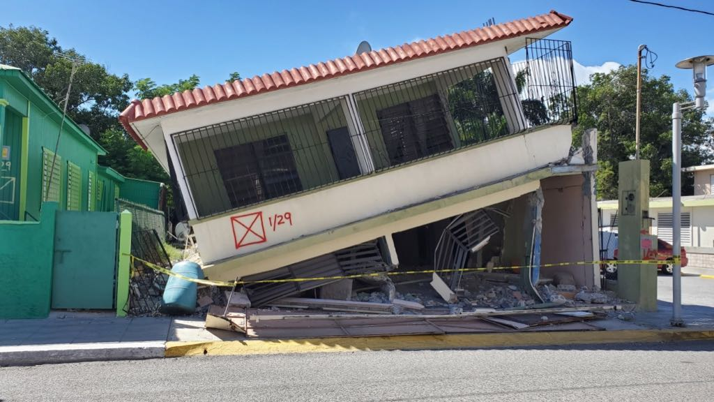 Aftermath of recent earthquakes in Puerto Rico