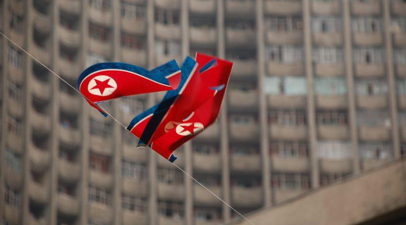 The North Korean flag in Pyongyang.(stephan/via Flickr)