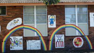 Rainbows on School Walls