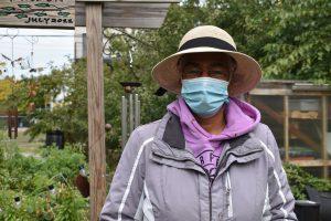 Gina Jamison, owner of Kuumba Tre-Ahm garden