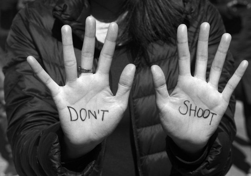 'Don't shoot'