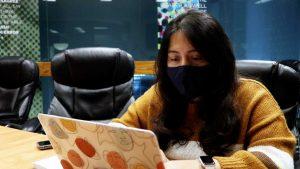 Student reporter Carolina Puga Mendoza