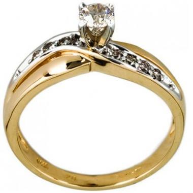 Anillo De Oro Con Diamante Bercov