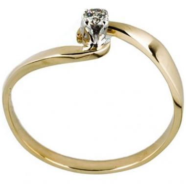Anillo De Oro Con Diamante 07 Puntos Bercov