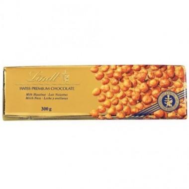 Barra De Chocolate Swiss Classic Avellanas 300 Gr Lindt