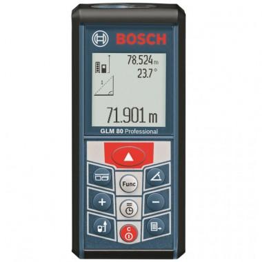 Medidor De Distancias Bosch Alcance 80 M Batería De Litio Con Bolsa De Protección