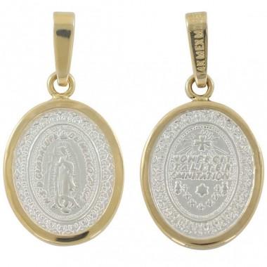 Medalla Virgen de Guadalupe con Bisel de 14K Villalpando