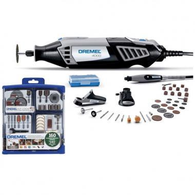 Kit Multipro Dremel Serie 4000 + 3 Aditamentos + 196 Accesorios Y Maletín Plástico
