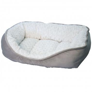 Cama Lord Peluche Gris-Blanco (60 X 40 Cm) Fancy Pets Mod. Tx10507