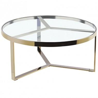 Mesa de centro Olga dorada Piccola
