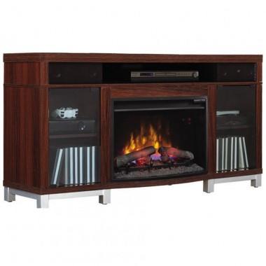 Mueble de tv con chimenea bocinas y bluetooth Twinstar