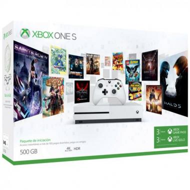 Consola Xbox One S 500Gb + Game Pass 3M + Live Gold 3M