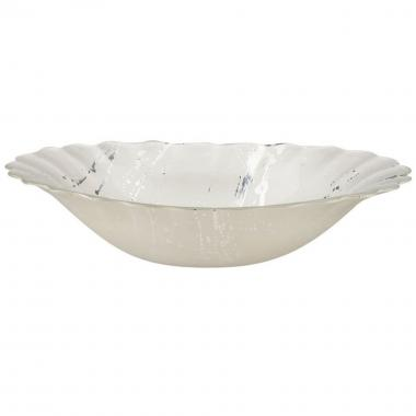 Bowl Blanco Con Plata Gde11108 17-427 Sharda