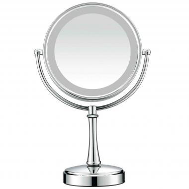 Espejo redondo con luz be87 nickel cepillado 1x/7x Conair