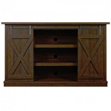 Mueble De Tv Con Puertas Corredizas Tipo Granero Twinstar