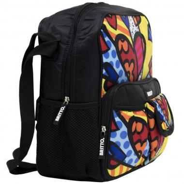 Bolso  Cross Multocolor Corazón Romero Britto
