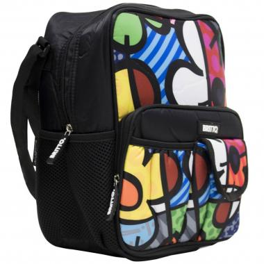 Bolso  Cross Multocolor Flor Romero Britto