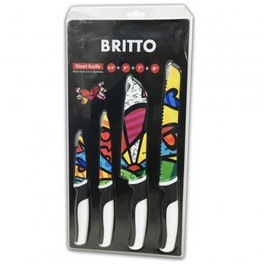 Set De 4 Cuchillos Corazón Swl7740 Romero Britto