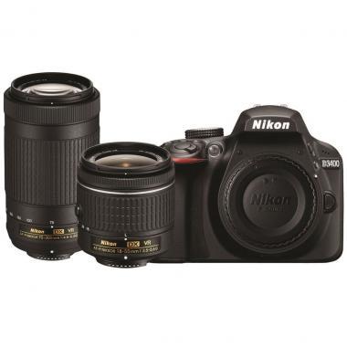 Kit Cámara Nikon D3400 Af-P 18-55mm Vr 70-300mm Vr