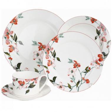 Vajilla Flores Rosas De 20 Piezas Hebei Y