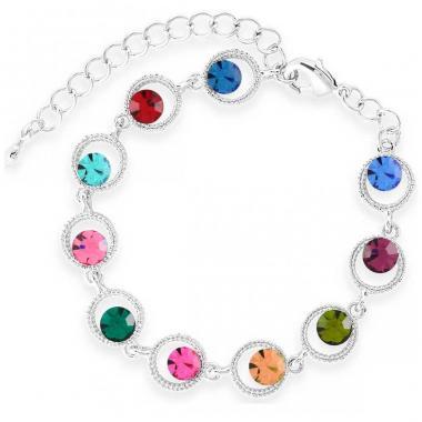 Pulsera Celebration Rodio Swarovski Color Multi Forever Crystals