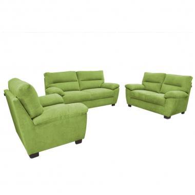 Sala 3-2-1 Navas Tela Verde  Muebles Liz