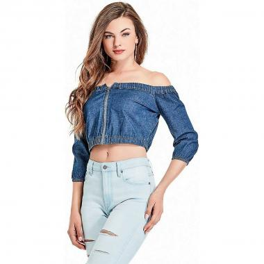 Blusa Sin Hombros G By Guess