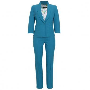 Conjunto De 3 Piezas Saco Y Pantalón Lisos Blusa Estampada Joces