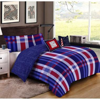Paquete De Cama Emet Azul Home Nature - King Size