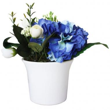 Arreglo De Hortensia Azul En Campana Chica