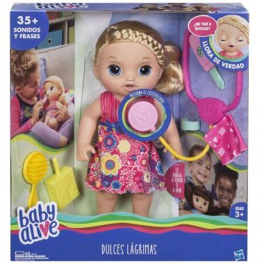 Baby Alive Dulces Lágrimas Muñeca Rubia Hasbro