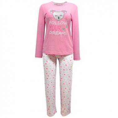 Pijama 3 Pzas Chifon Con Estampado Isotoner cf424919648f5