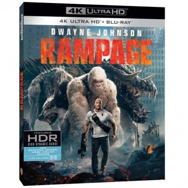 Blu Ray 4k UHD  Rampage: Devastación