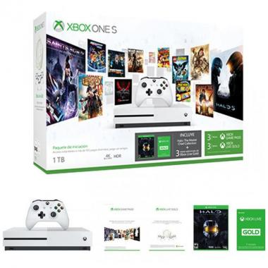 Consola Xbox One S 1Tb Game Pass Y Live + Halo Mcc Y Live 3M