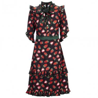 Vestido Estampado De Fresas C2c
