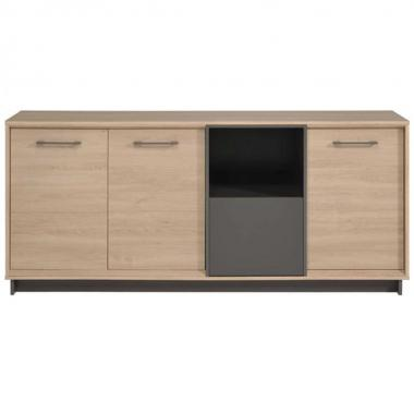 Buffet Feel Color Roble Brooklyn Y Gris Arenteiro