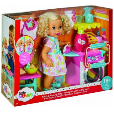Little Mommy Bebita Come Y Lava Mattel