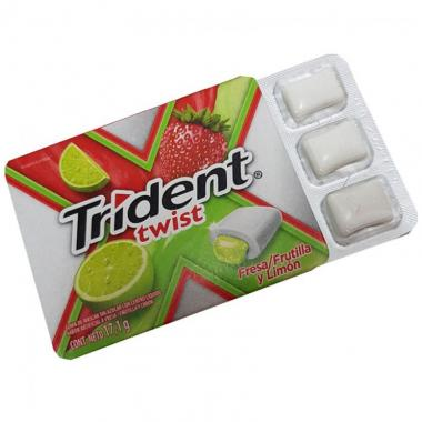 Goma De Mascar Trident Twist Sweet Fresa Limón Adams