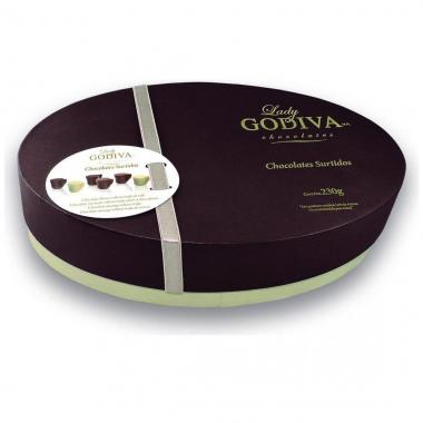 Estuche Ovalado Con Chocolates Tacitas Lady Godiva