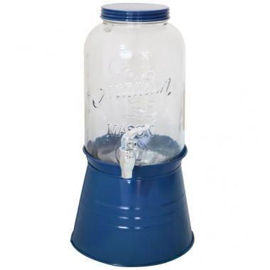 Dispensador Con Base Azul Marino Home Nature