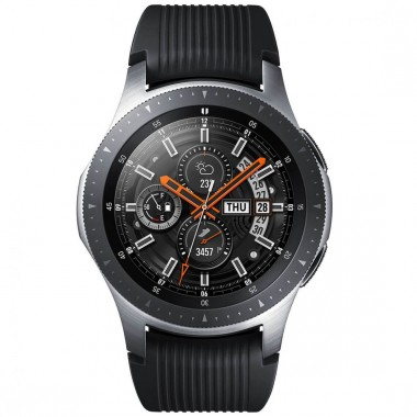 Reloj Galaxy 46MM Color Plata Correa Negro SM-R800NZSAMXO