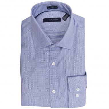Camisa azul de patrones Slim Tommy Hilfiger