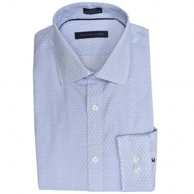 Camisa azul fantasía Slim Tommy Hilfiger