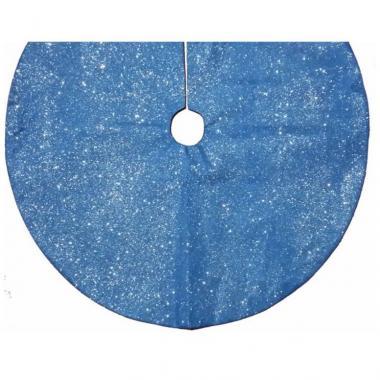 Pie De Árbol Organza Azul Con Destellos Mmg